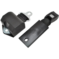 BLACK : RETRACTABLE SEAT BELT 60 Inches